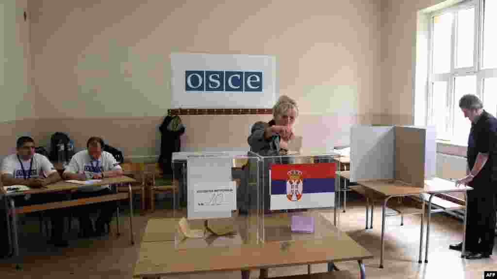 One of the thorny issues facing the winner will be how to proceed over Kosovo, which declared independence from Belgrade in 2008 but whose sovereignty Serbia has staunchly opposed.