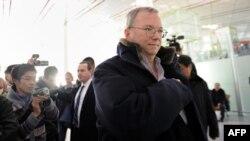 Kreu ekzekutiv i Google, Eric Schimidt, Pekin, 7 janar, 2013.