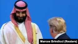 Мухаммед бин Салман и Дональд Трамп