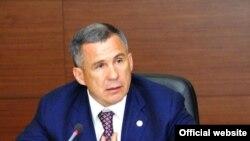 Rustam Minnikhanov, the president of Tatarstan
