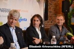 Посол Швейцарії в Україні Гійом Шойрер, Піппо Полліна, Олег Скрипка