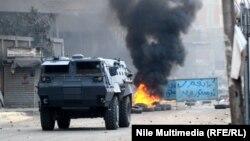 مدرعة لقوات أمن مصرية في القاهرة