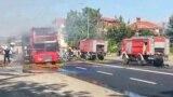 Изгорен автобус на ЈСП