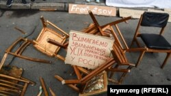 Акция в поддержку Олега Сенцова в Киеве, 22 мая 2018 года