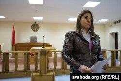 Ганна Карсуліна на судзе 18 сьнежня 2018 году