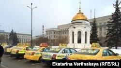 Забастовка таксистов в Иркутске (1 марта 2016 года)