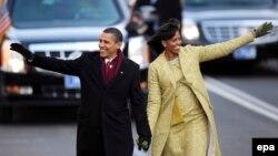 Барак Обама жубайы Мишел Обама менен. 20-январь, 2009-жыл