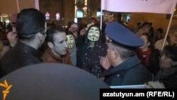 Armenia - Rally in support of jailed political activist Shant Harutiunian 5Nov, 2014