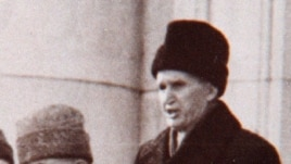 Nicolae Ceausescu delivers his last public speech in Bucharest on December 21, 1989. He would be executed a few days later.
