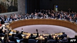 United Nations Security Council members vote on the Iran resolution at the UN headquarters in New York, July 20, 2015