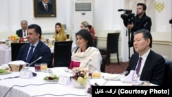 A UN Security Council delegation meeting with Afghan leaders in Kabul