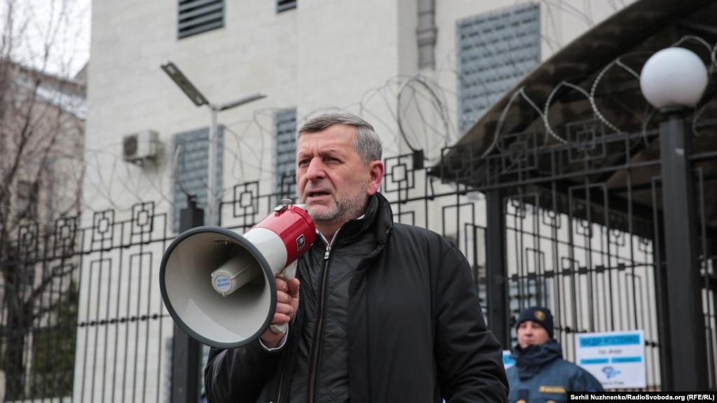 С речью выступил зампредседатель Меджлиса крымскотатарского народа Ахтем Чийгоз