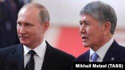 Владимир Путин и Алмазбек Атамбаев. Москва, 20 июня 2017 года.