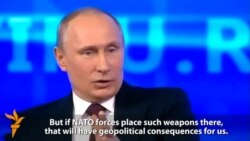 Putin Says Crimea Annexation Partly Response To NATO Enlargement