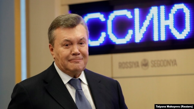 Віктор Янукович під час пресконференції в Москві, 6 лютого 2019 року