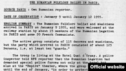 Pagină a documentului din Arhiva RFE