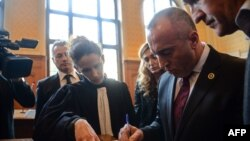 Ramush Haradinaj në gjykatën në Colmar të Francës, 9 shkurt 2017