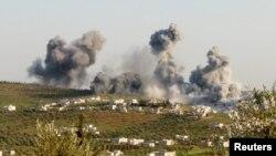 Սիրիա - Օդային հարվածներ Իդլիբի շրջանում, մարտ, 2015թ․