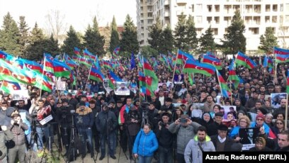 Azerbaijani Opposition Rallies Ahead Of Snap Presidential Election