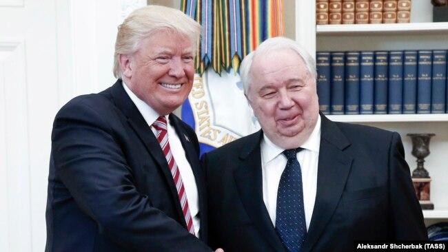 Дональд Трамп и посол России в США Сергей Кисляк