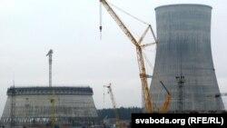 Беларуская АЭС, якая будуецца каля Астраўца
