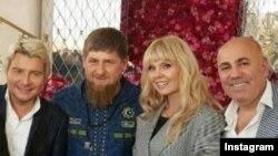 Валерия, Николай Басков, Иосиф Пригожин в гостях у Рамзана Кадырова