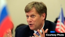 Former U.S. Ambassador to Moscow Michael McFaul says he only learned of the ban when he recently applied for a visa to travel to Moscow (file photo).