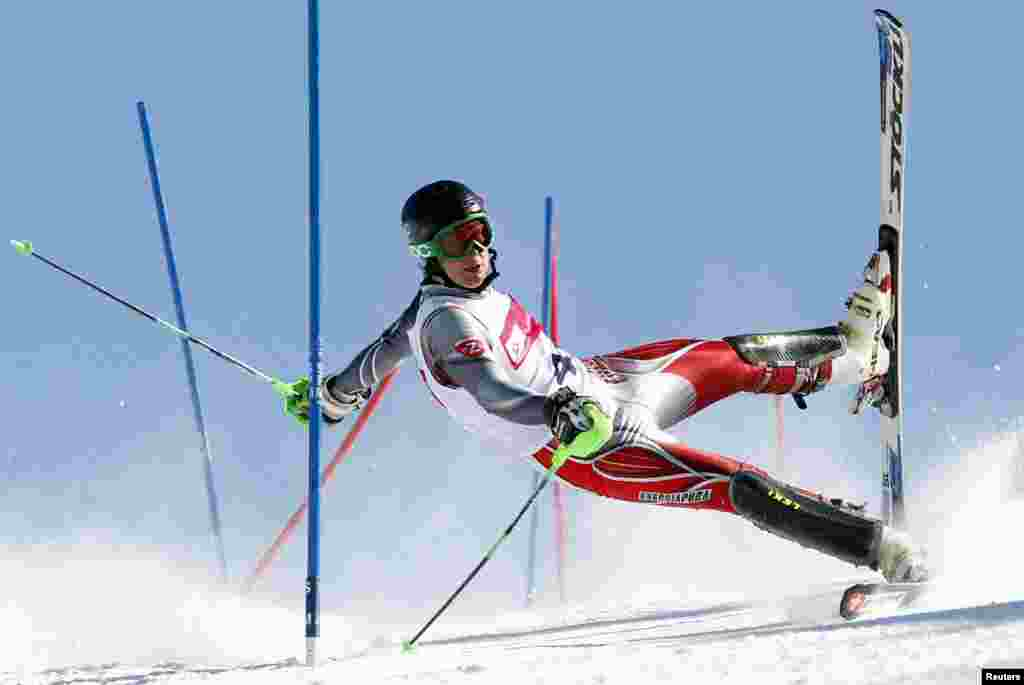 Andrzej Grygiel, a Polish photographer working for PAP-Polska Agencja Prasowa, won second prize in the Sports Action Single categorywith this picture of a slalom skier in Szczyrk, Poland.