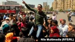 احدى التظاهرات في ميدان التحرير بالقاهرة(من الارشيف)