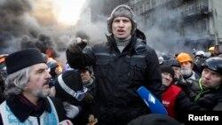 Віталій Кличко на Грушевського, 23 січня 2014 року