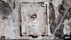 Спутниковые снимки разрушений в сирийском городе Пальмира.
