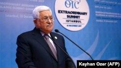 Udhëheqësi i Autoritetit Palestinez, Mahmud Abbas, gjatë samitit në Stamboll.