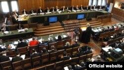 Меѓународниот суд на правдата во Хаг.