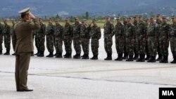 Архивска фотографија - Испраќање на војници на АРМ на воена вежба во ЕУ.