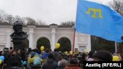 Ռուսամետների հանրահավաքը Սիմֆերոպոլում, 9-ը մարտի, 2014
