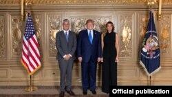 Presidenti amerikan, Donald Trump dhe ai i Kosovës, Hashim Thaçi.