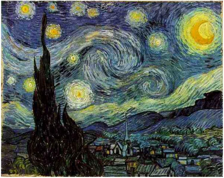 Карціну «Зорная ноч» можна пабачыць у Музэі сучаснага мастацтва ў Нью-Ёрку. Хто яе намаляваў?