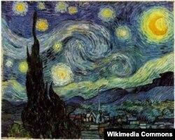 """Van Goghun ən məşhur əsəri """"Ulduzlu gecə"""" 1889."""