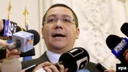Виктор Понта в день отставки, 4 ноября 2015 г.