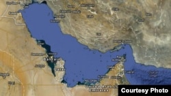 خلیج فارس در نقشه گوگلمپز (Google Maps)