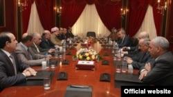 قادة التحالف الكردستاني والعراقية في إجتماع سابق بأربيل
