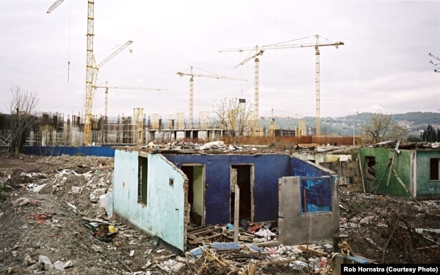 In Sochi, villages were bulldozed to make way for massive complex construction.