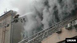 Обгорілий цех Харківської ювелірної фабрики, 8 січня 2014 року
