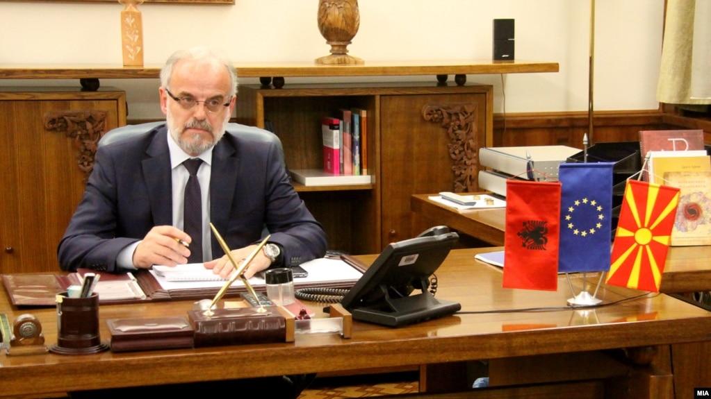 Macedonian Parliament's New Ethnic Albanian Speaker Enters