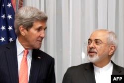 Джон Кэрри и глава МИД Ирана Джавад Зариф на переговорах в Лозанне