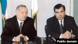 Президент Узбекистана Ислам Каримов (слева) и президент Таджикистана Эмомали Рахмон (справа).