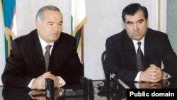 Ikki davlat prezidentlari Islom Karimov va Imomali Rahmon.