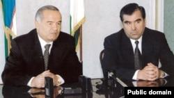 Икки давлат президентлари Ислом Каримов ва Имомали Раҳмон.