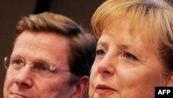آنگلا مرکل، صدر اعظم و گیدو وستر وله، وزیر خارجه آلمان