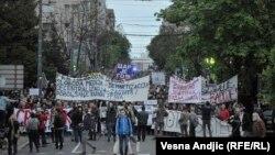 Студентські протести у Сербії, Белград, 18 квітня 2017 року